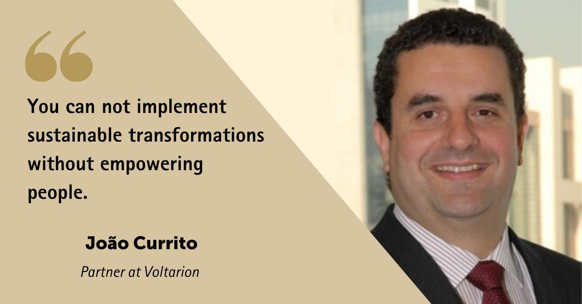 You can not implement sustainable transformation without empowering people