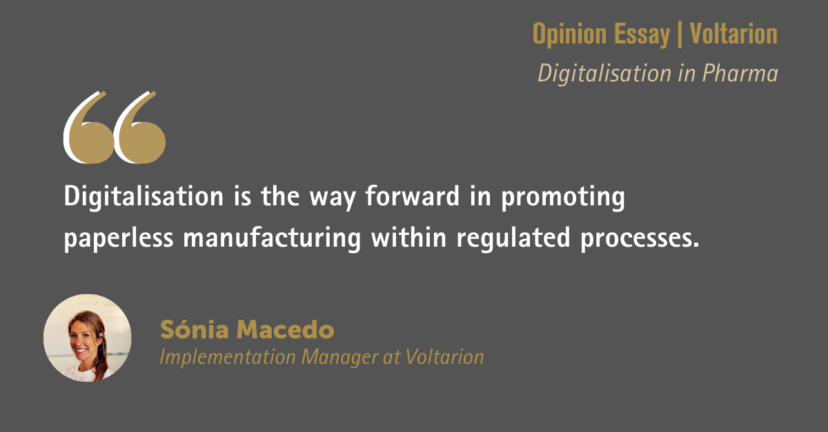 Digitalisation – The route to paperless manufacturing in pharmaceuticals