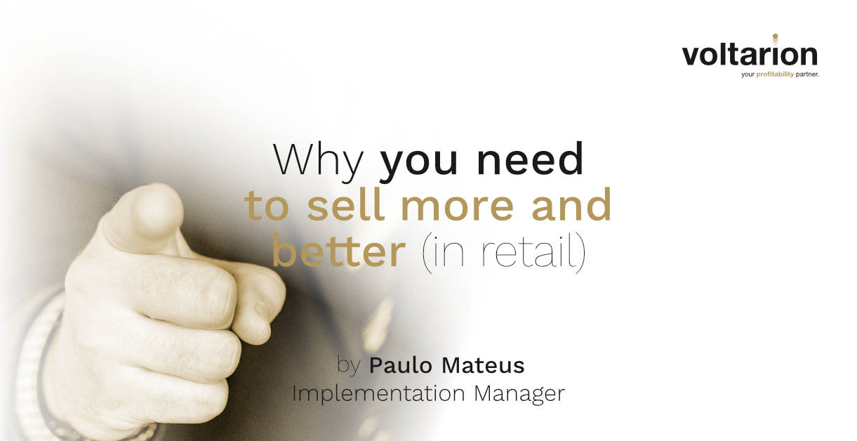 You need to sell better!